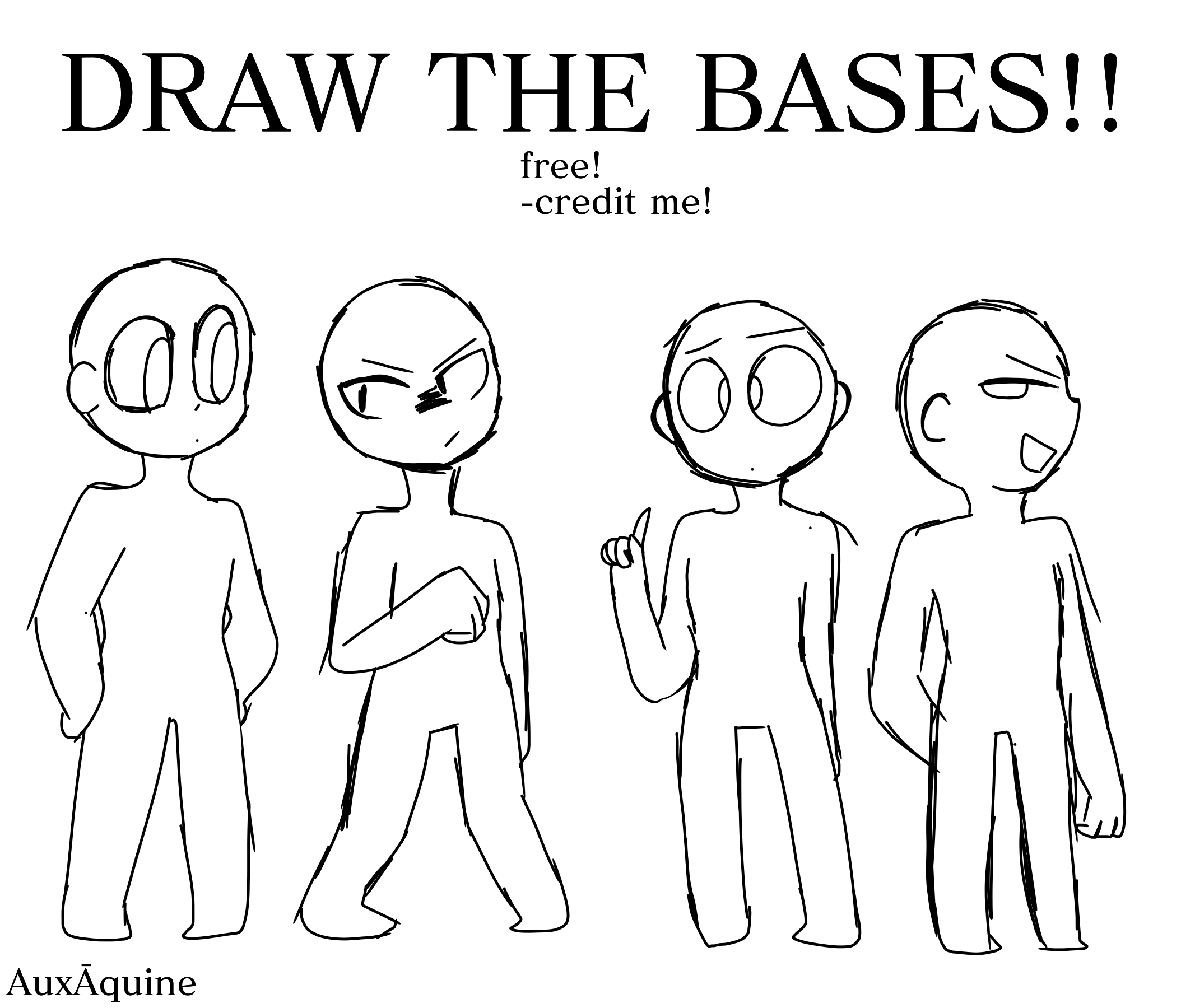 Draw The Bases 3 Free Jemonfucious08 Illustrations Art Street
