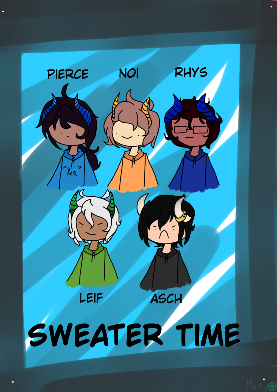 Sweater Time with the Daemos  Illust of MintyPeppermint medibangpaint