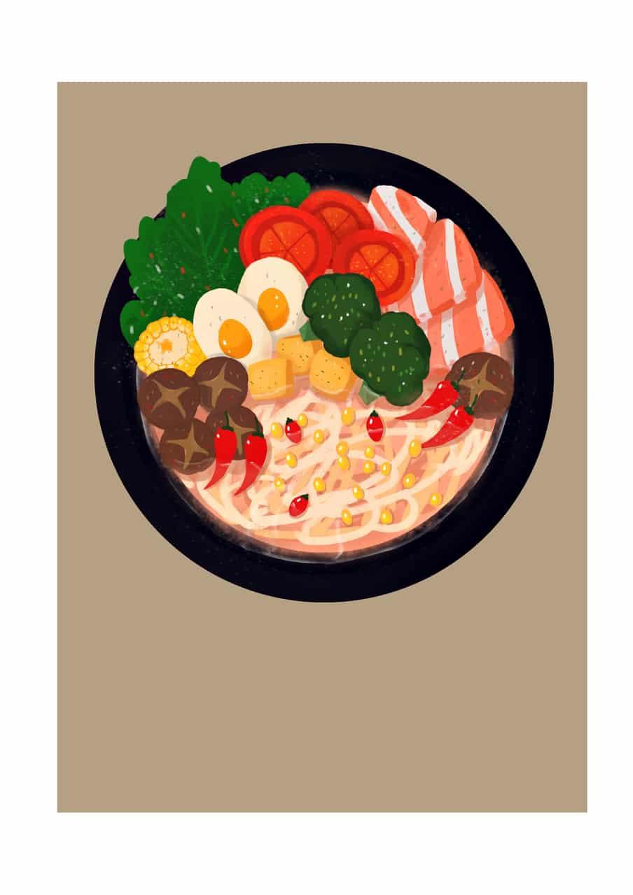lamian  Illust of 鱼花少年 October2020_Contest:Food