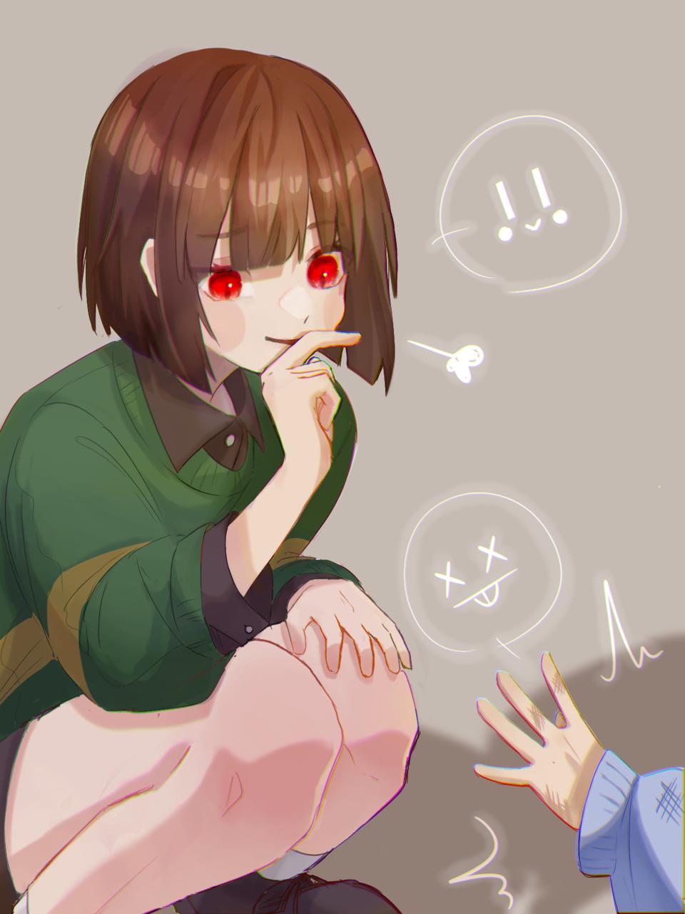 煽りキャラ様 Illust of ト・リ・コ・ス・ケ Frisk キャラ キャラフリ undertale