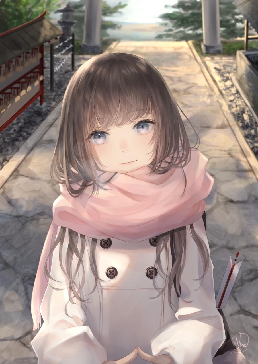 新年 Illust of 稔也 Jan.2020Contest 初詣 girl original