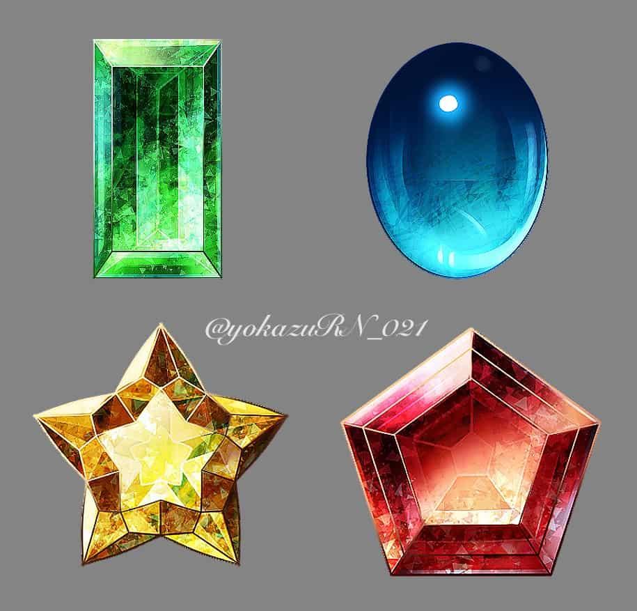 宝石3 Illust of 夜和 original 宝石 illustration