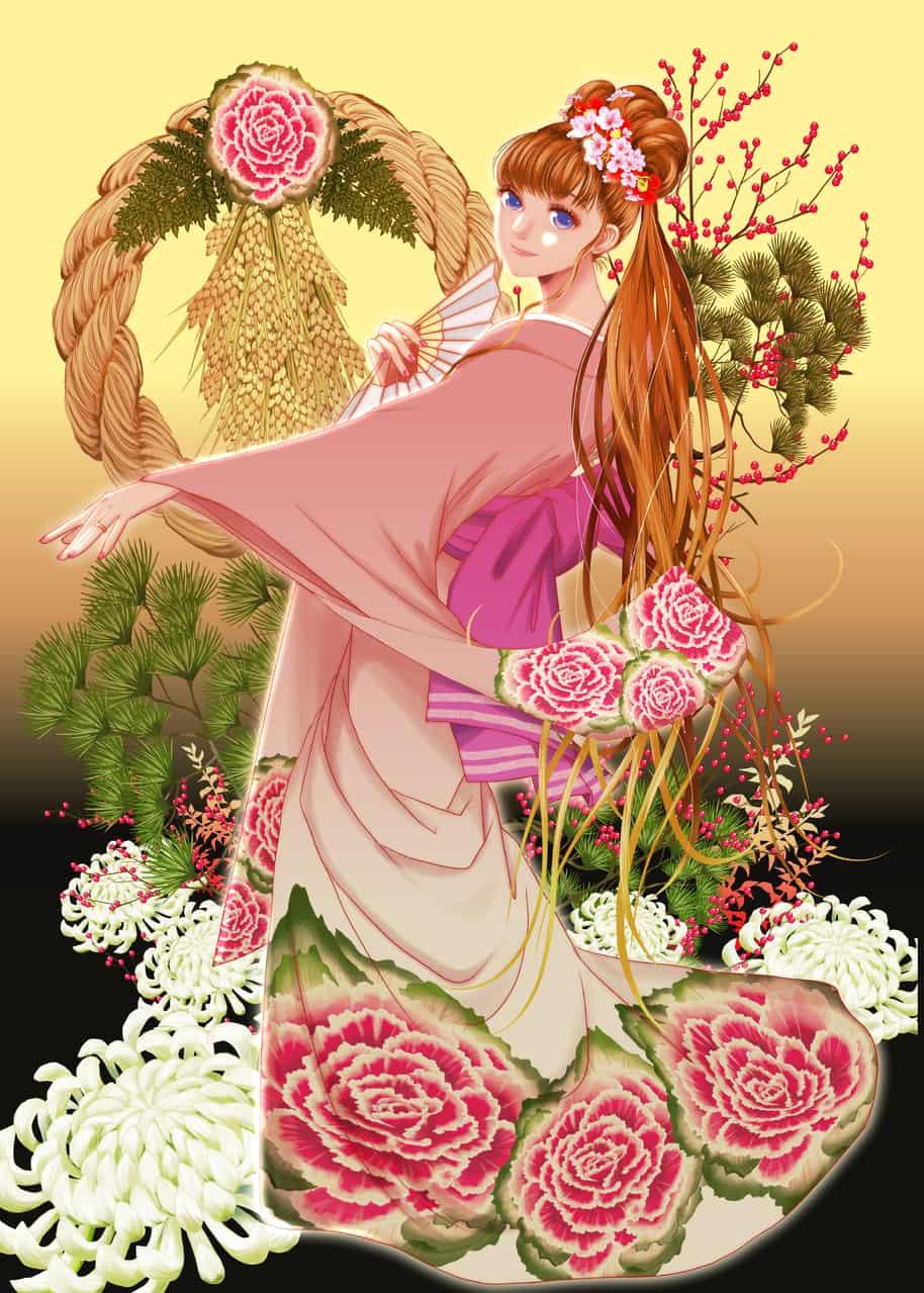 お正月だぞ! Illust of onigiri_japan Jan.2020Contest
