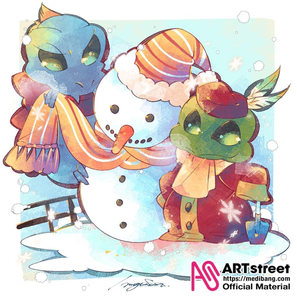 【第4回トレスde】朝の雪かきから始まりまして、 Illust of もぐさまる。 tracedrawing4th Trace&Draw【Official】