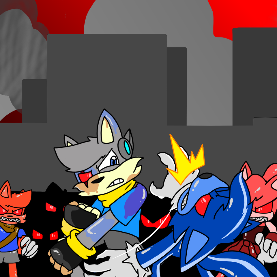 Infection Illust of Gaming Doge zombots medibangpaint sonicIDW oc