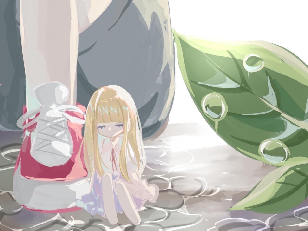 泣いてもいいよ Illust of すい original girl pastel impasto