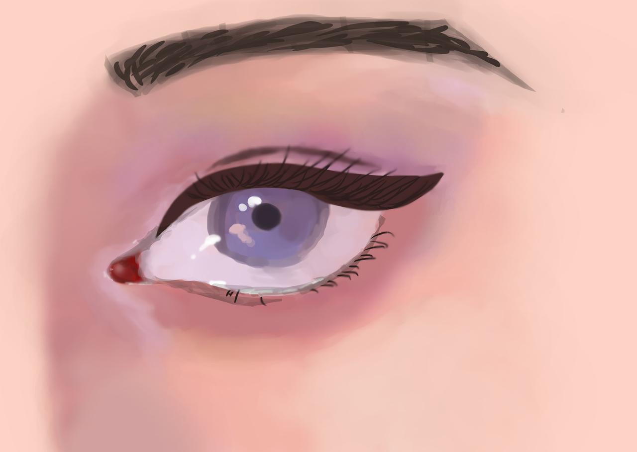 Semi Realistic Eye Drawing Skyler Wolf Illustrations Medibang