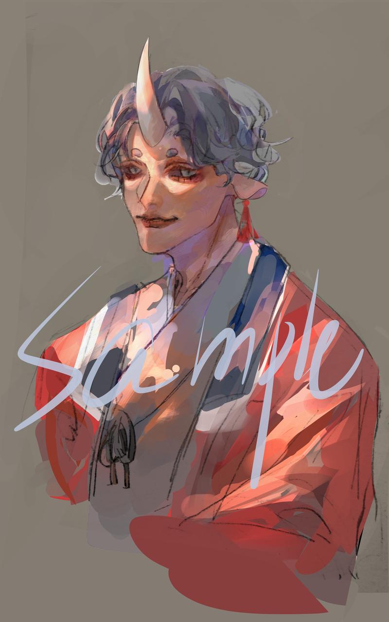 别人的孩子 Illust of 錫椋zy#『147 medibangpaint horn kimono