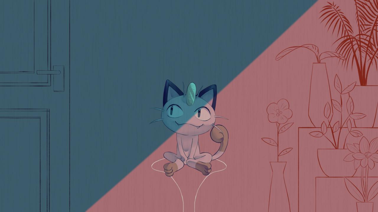 【ポケモン】ニャースが夜に駆ける歌ってみた【YOASOBI】 Illust of じんなぎさ 動画絵 IRIS_MONDO Meowth YOASOBI YouTube 夜に駆ける