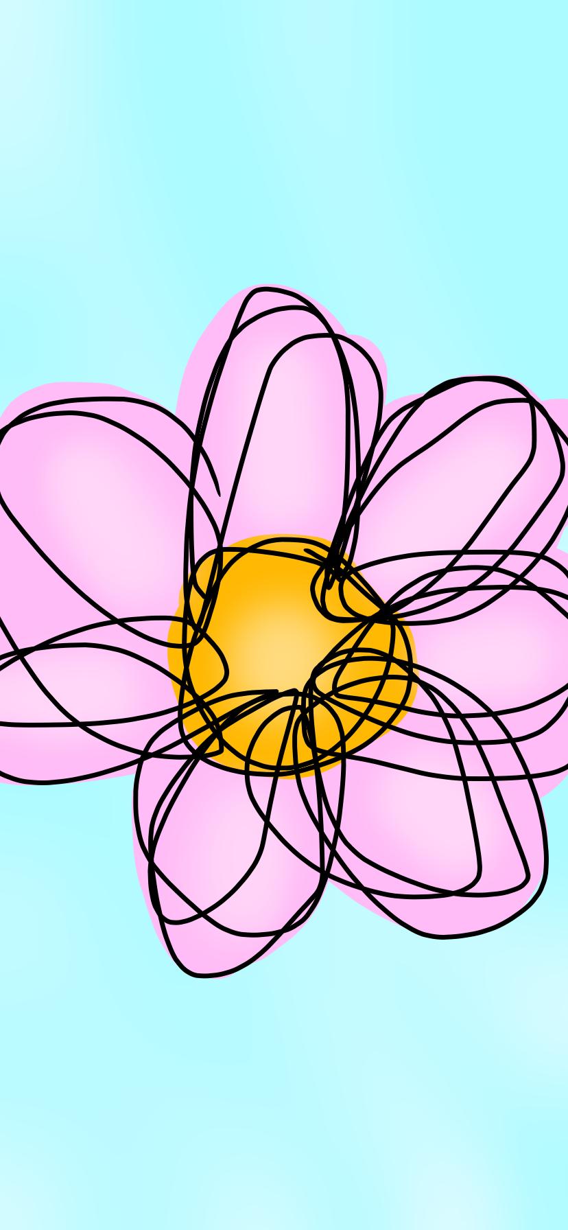 pinkflower Illust of BakugouMae April2021_Flower medibangpaint