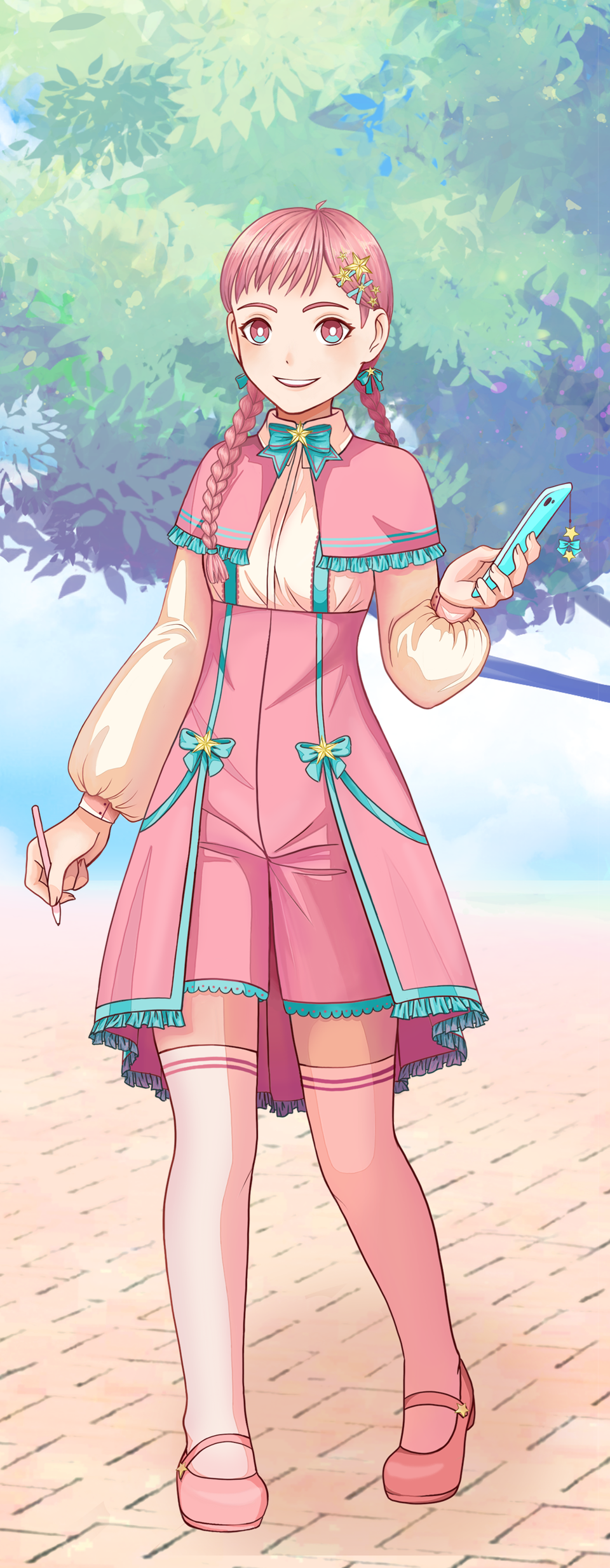 Pastel Sketch Pink Girl Illust of Shurmmi & Izni PASTEL_SKETCH2020 pastel girl