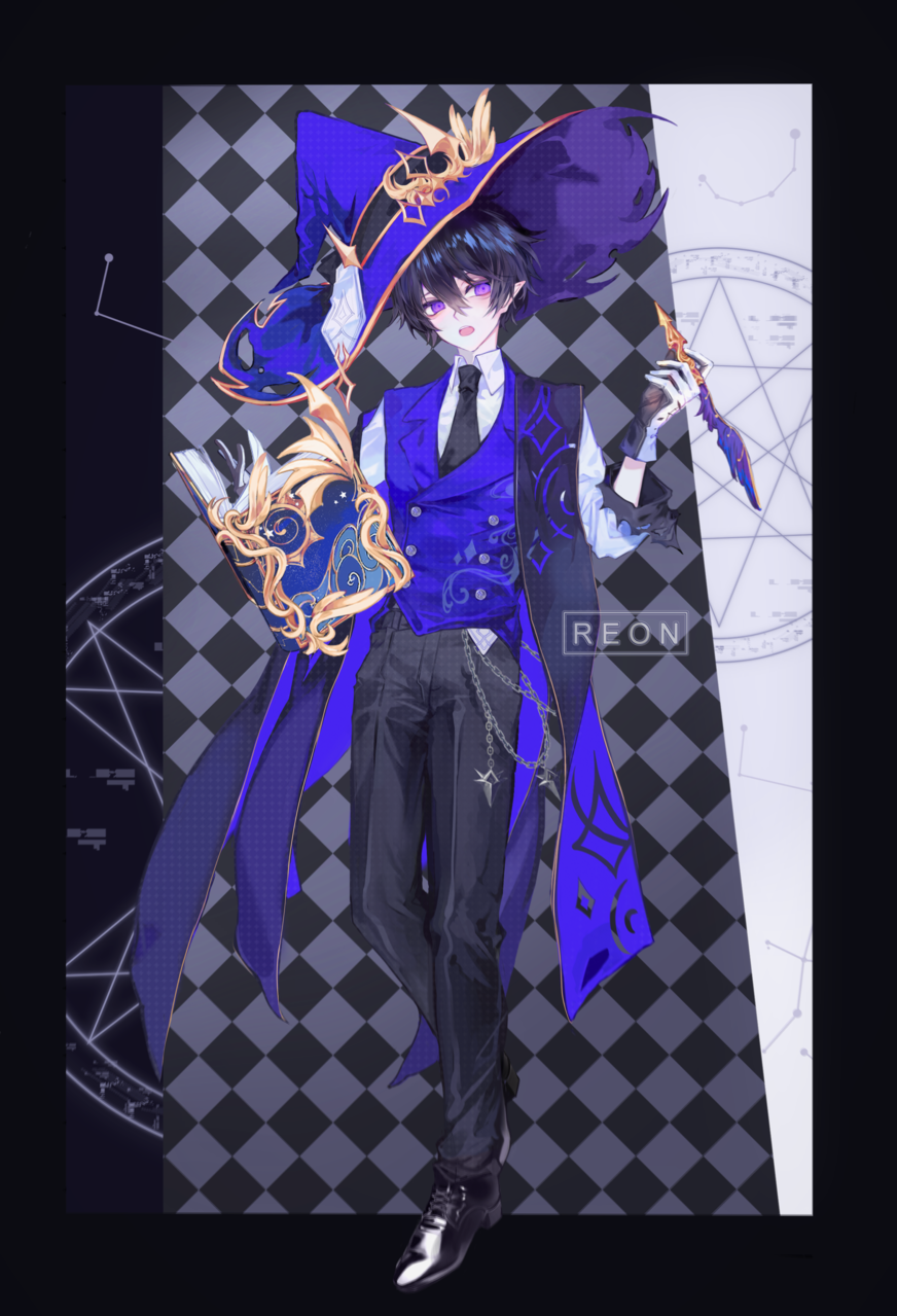 [Commission] Luca, Sorcerer of seamemories Illust of R E O N fantasy drawing hat witch commission medibangpaint art Artwork boy anime