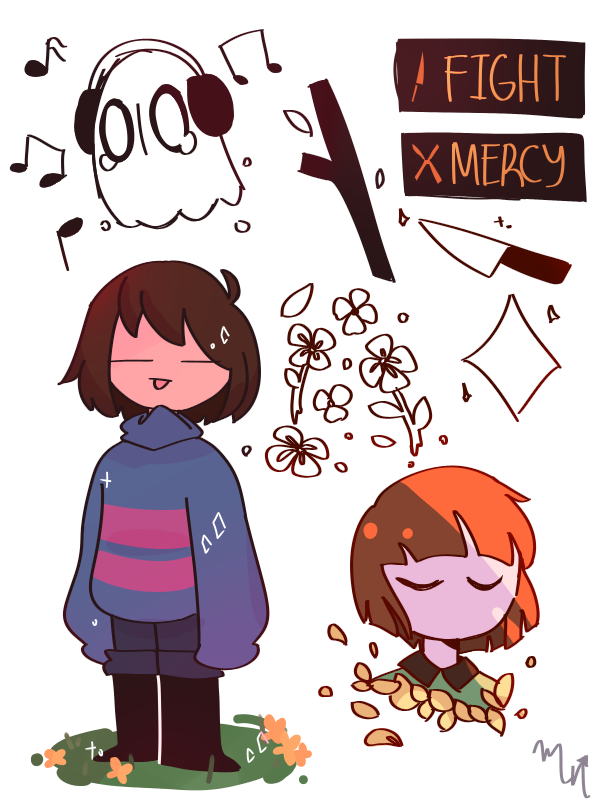 sorry for not posting, heres some doodles Illust of 🎃MochiiNiko👻 medibangpaint