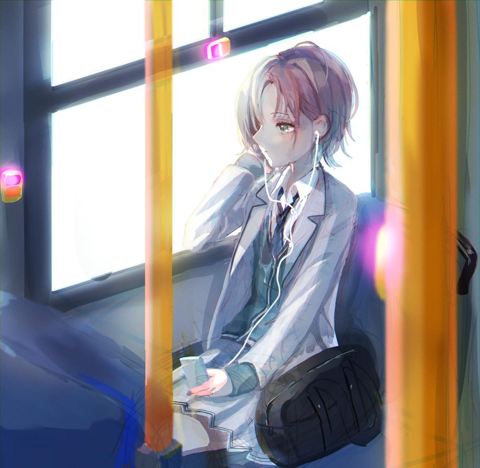 浅倉透 Illust of なむ バス girl シャニマス イヤホン TheIdolmaster 浅倉透 アイドルマスターシャイニーカラーズ