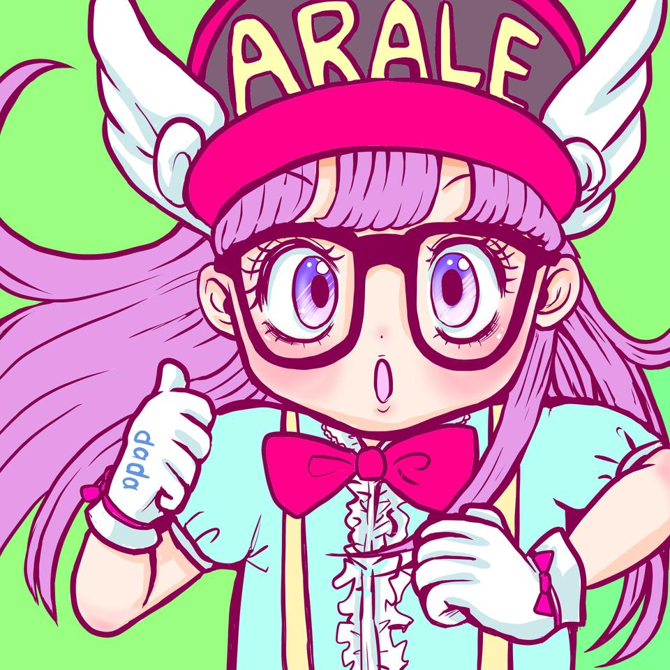 アラレちゃん Illust of m i z u k i medibangpaint ガール glasses アラレちゃん パステルカラー 女の子カラフル