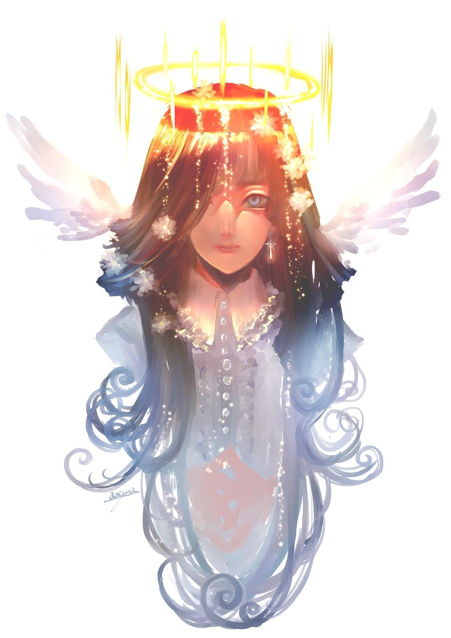 光が満ちる Illust of 青砂時計 original angel oc 光