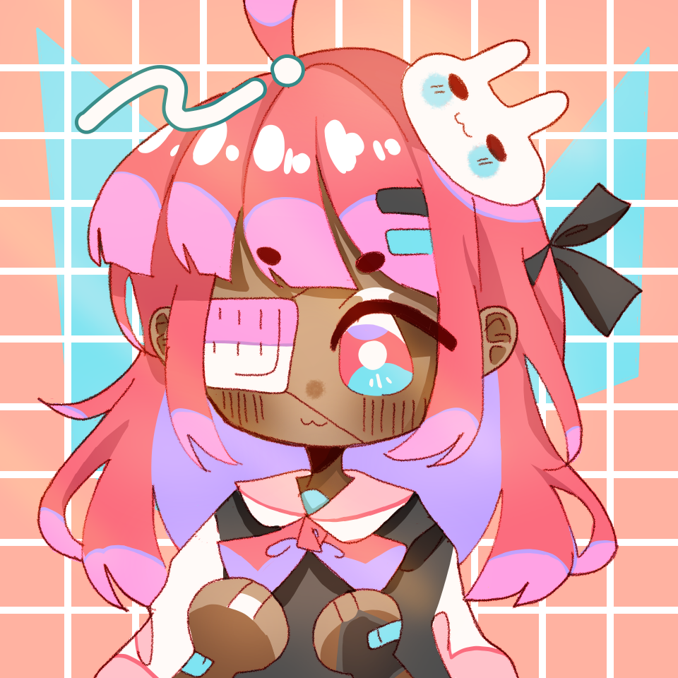 Collab with pErSon Illust of -lulu- {jazzghost mode} cute girl medibangpaint chibi
