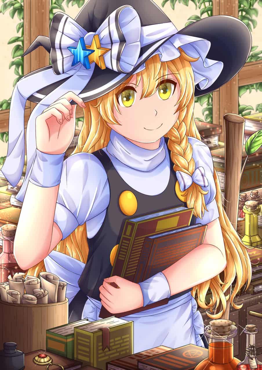 霧雨魔理沙 Illust of 金猩 Post_Multiple_Images_Contest Marisa_Kirisame girl scenery Touhou_Project medibangpaint 奇幻