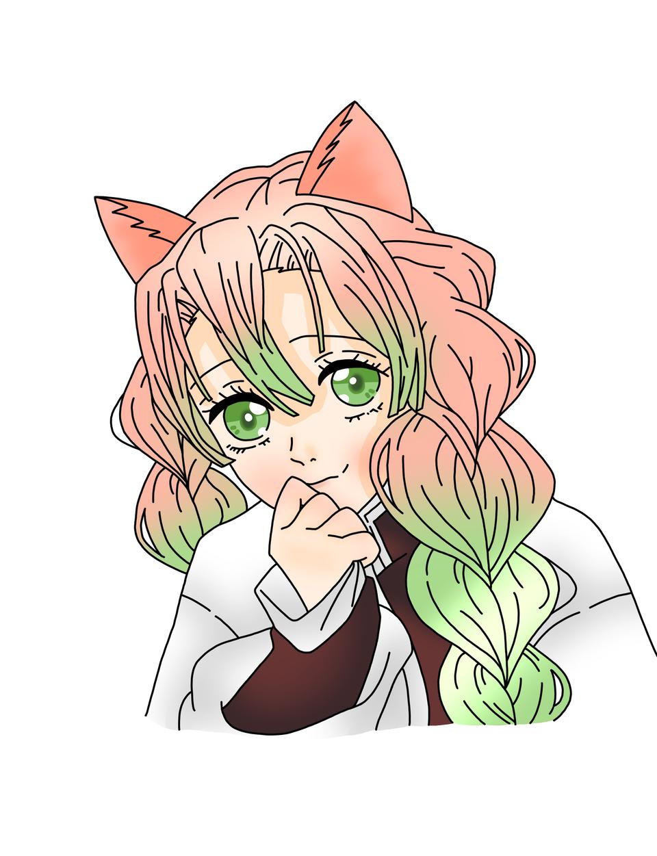 甘露寺蜜璃(ゆすらうめ様) Illust of 桜 宮美 KanrojiMitsuri cat_ears 桜宮美 KimetsunoYaiba ゆすらうめ