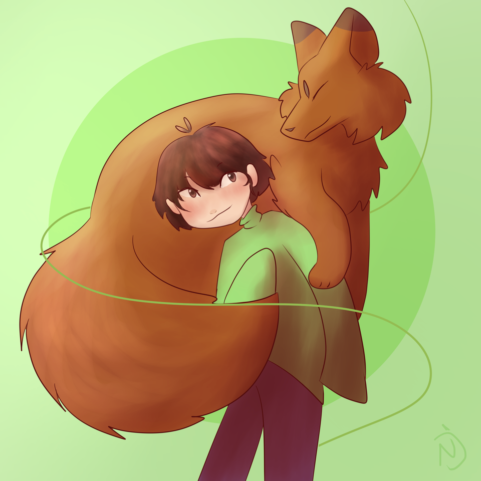 Thanks for the 76 Followers!! 💕💖 Illust of Namu :D random <3 fox uwu