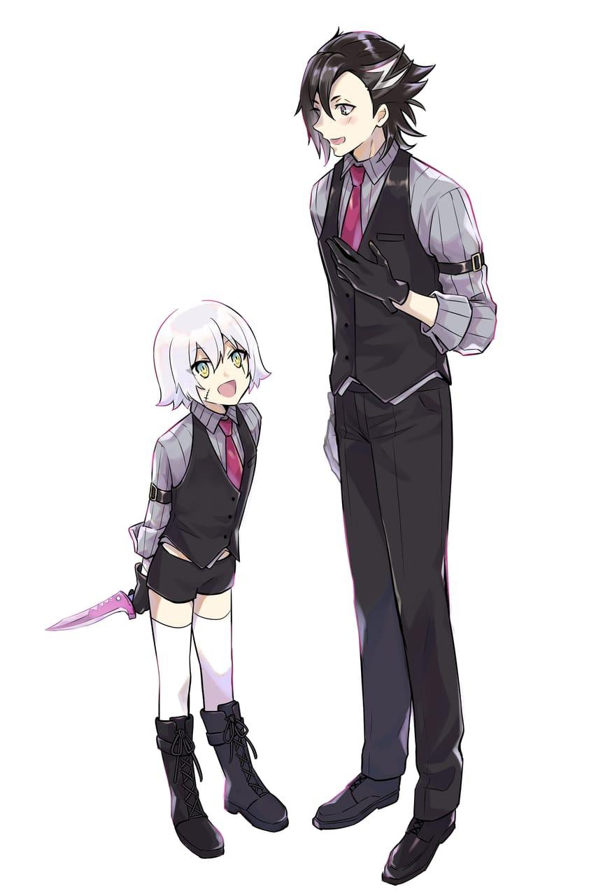 お揃いマンドリカルドくんとジャックちゃん Illust of 奥ノなる マンドリカルド Fate/GrandOrder ジャックザリッパー