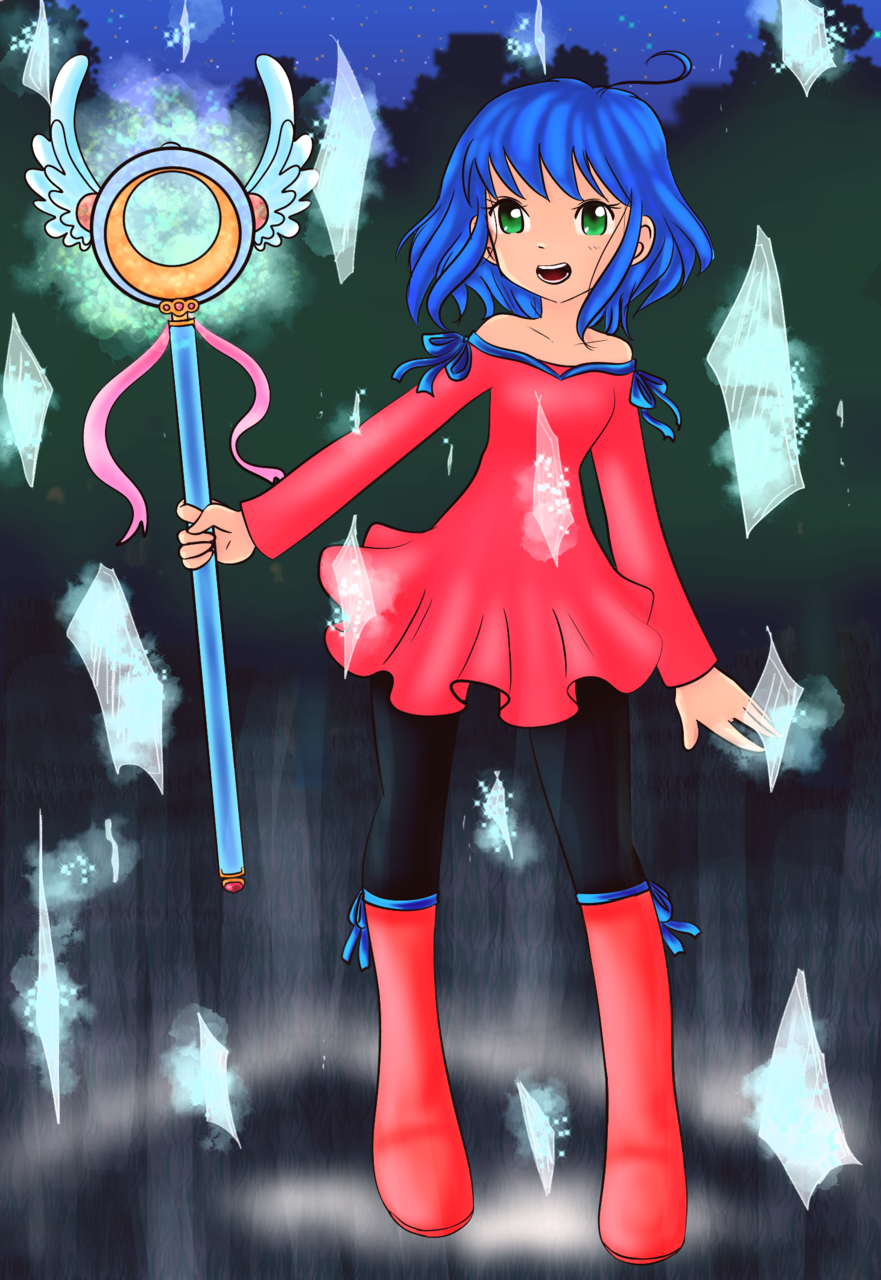 Magic girl Illust of Mina_Lunarys ArtToPaper2017