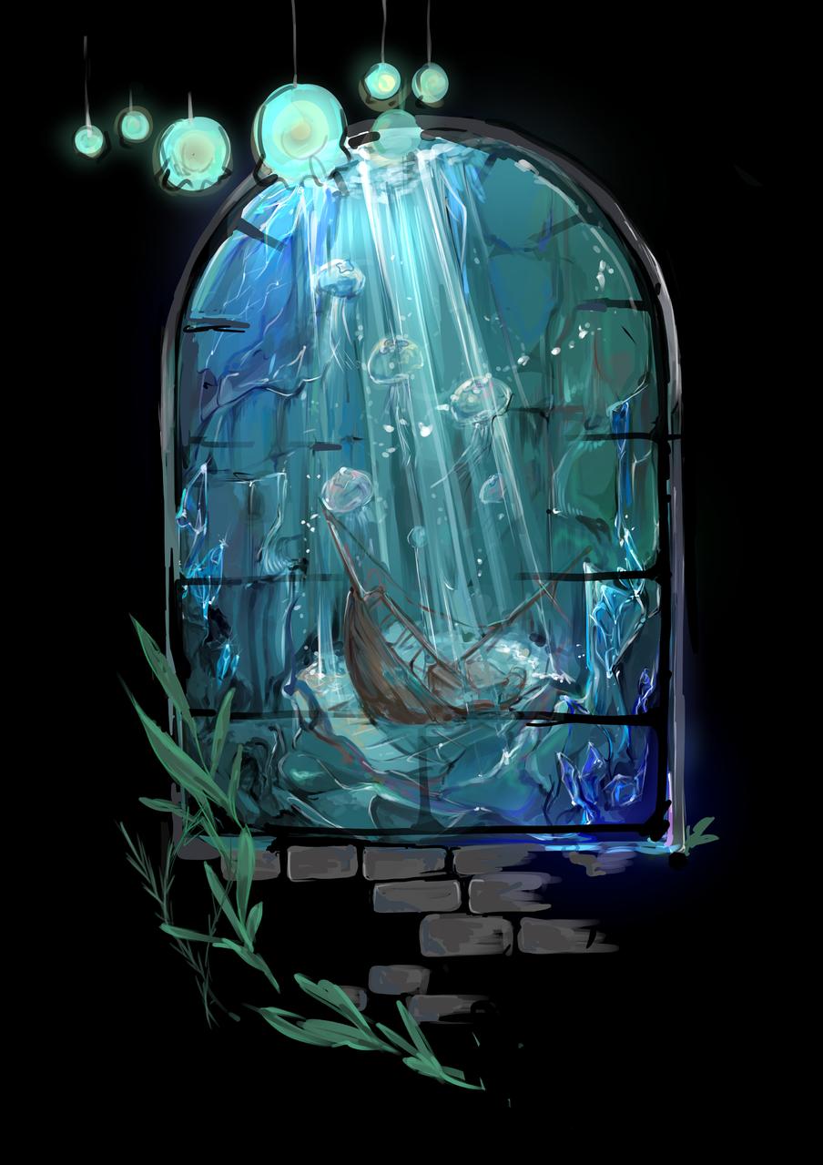 練習 Illust of saku medibangpaint background original underwater