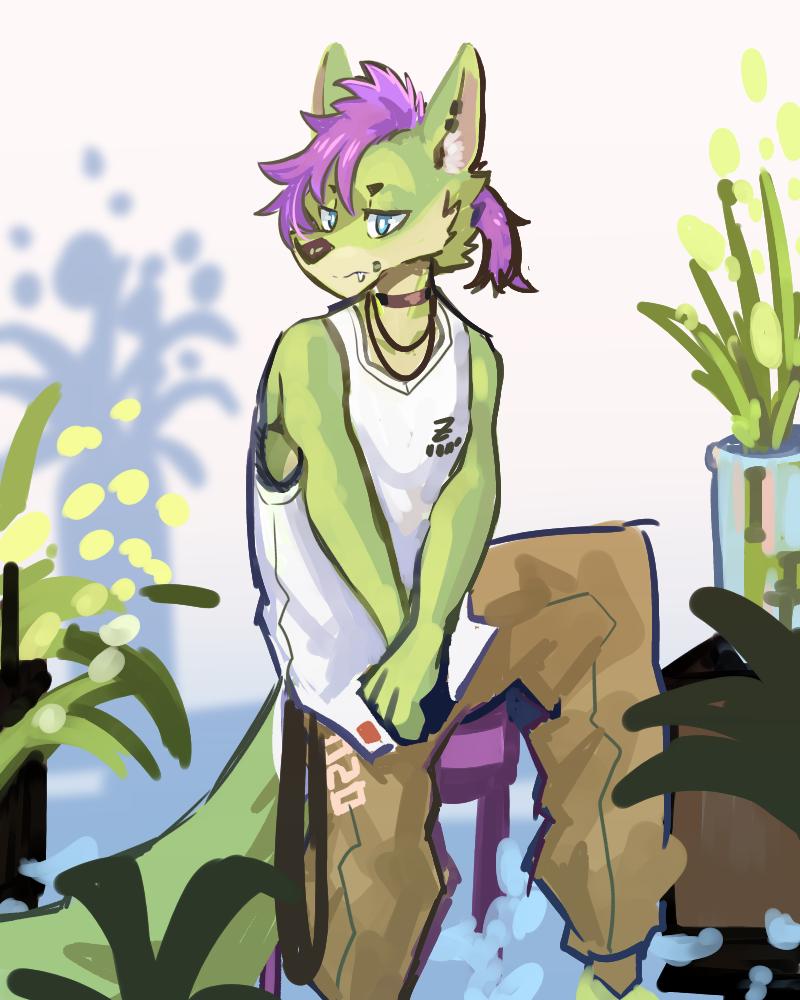 DOODLE Illust of 肯尼吉 April2021_Flower furry 獸人