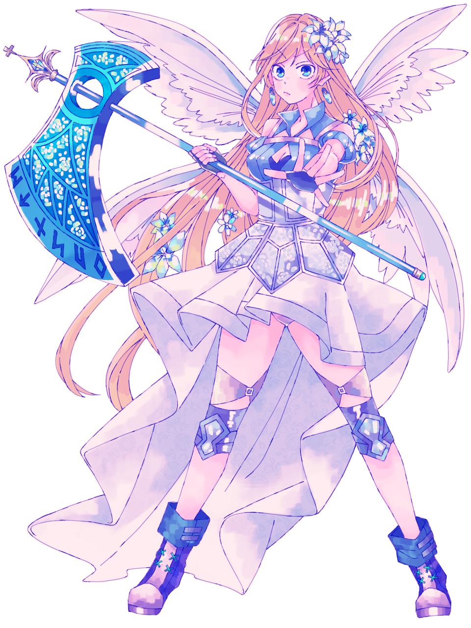 女性騎士 Illust of 721 original 騎士 天使の羽 medibangpaint girl axe