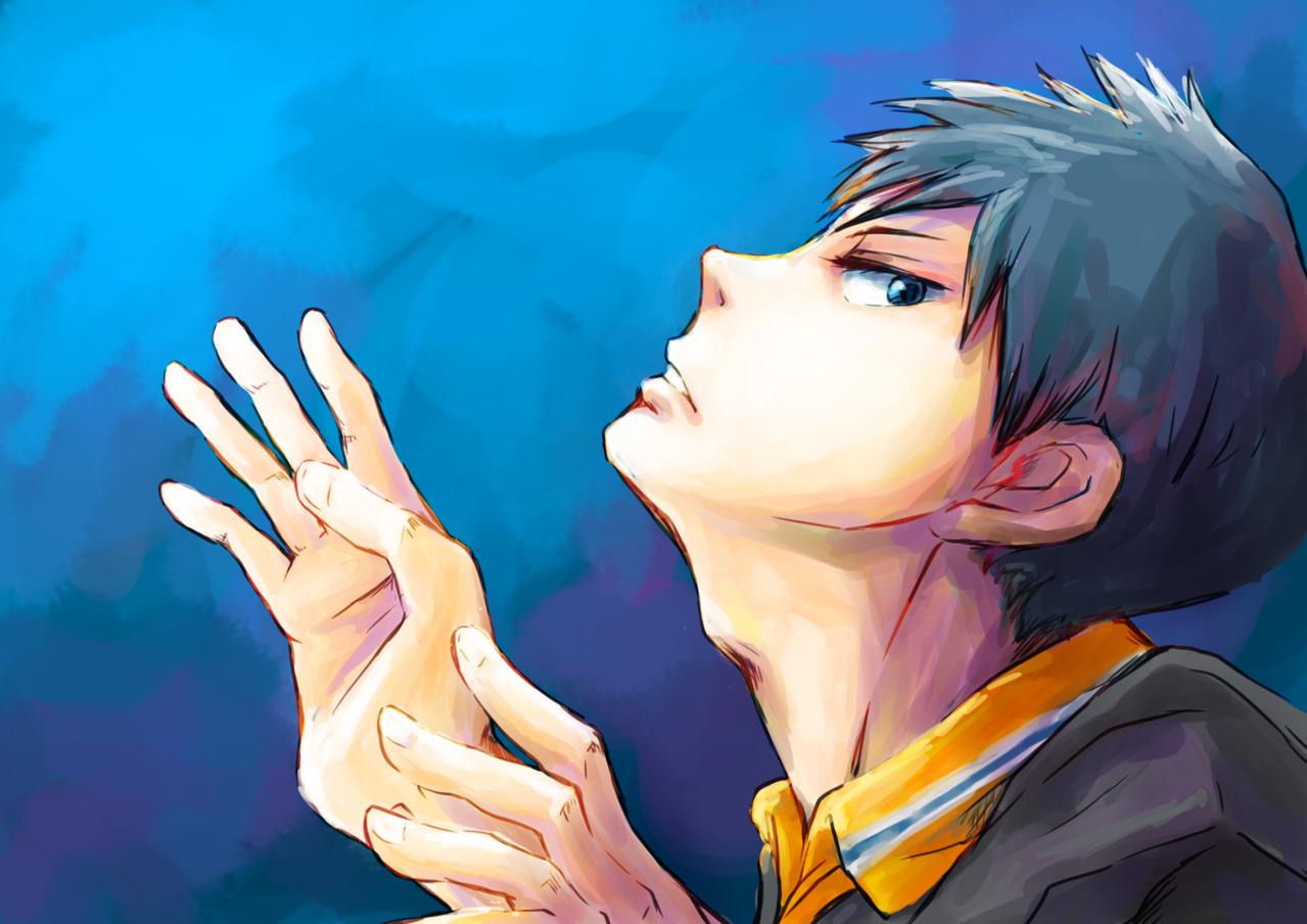 BLUE Illust of こも fanart TobioKageyama