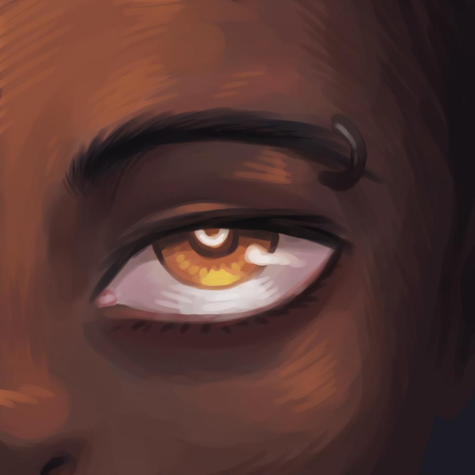 A Beautiful Eye Illust of Anawello medibangpaint