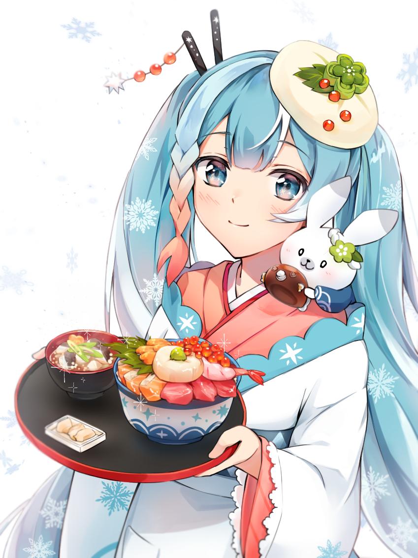 海鮮丼とゴッコ汁 Illust of イルカ 雪ミク CLIPSTUDIOPAINT 雪ミク2022 VOCALOID