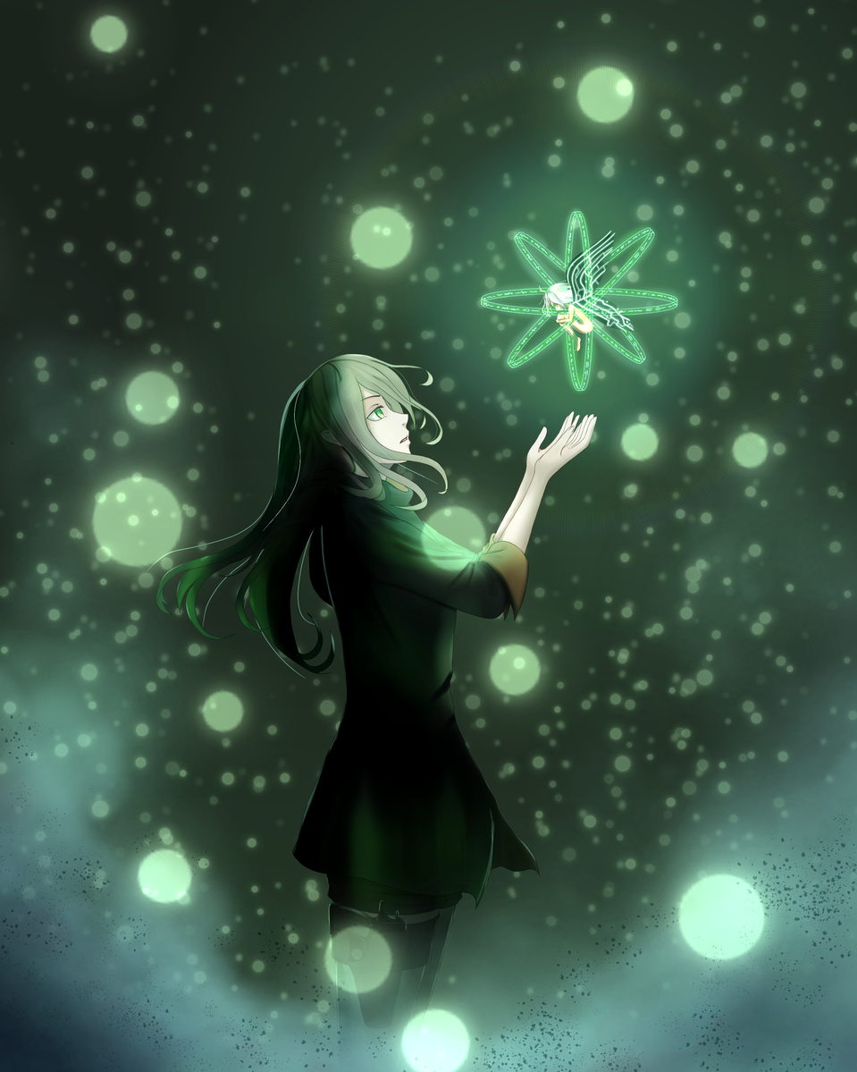 Cybernetic Fairy Illust of 4 green anime