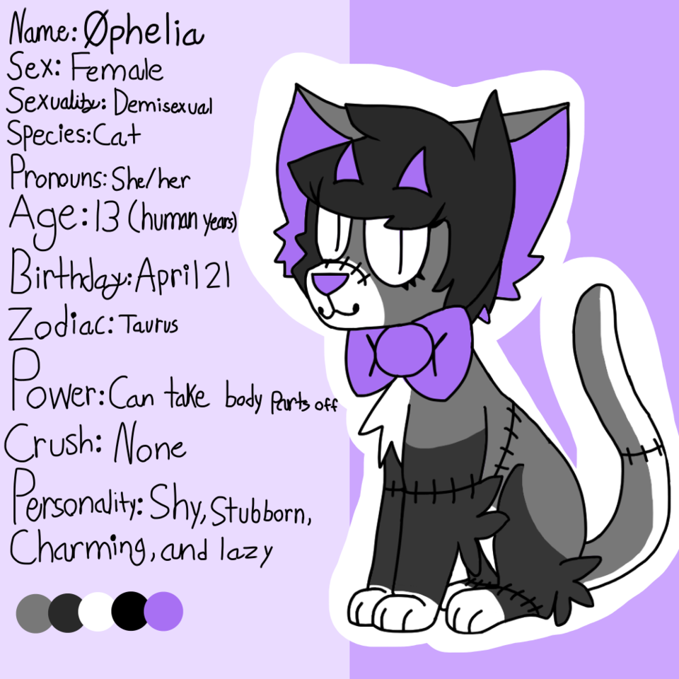 New main fursona reference sheet - twenty one Crybabys