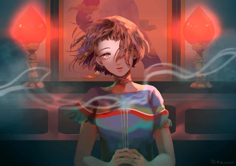 紅 Illust of 凜紙械恩 girl original