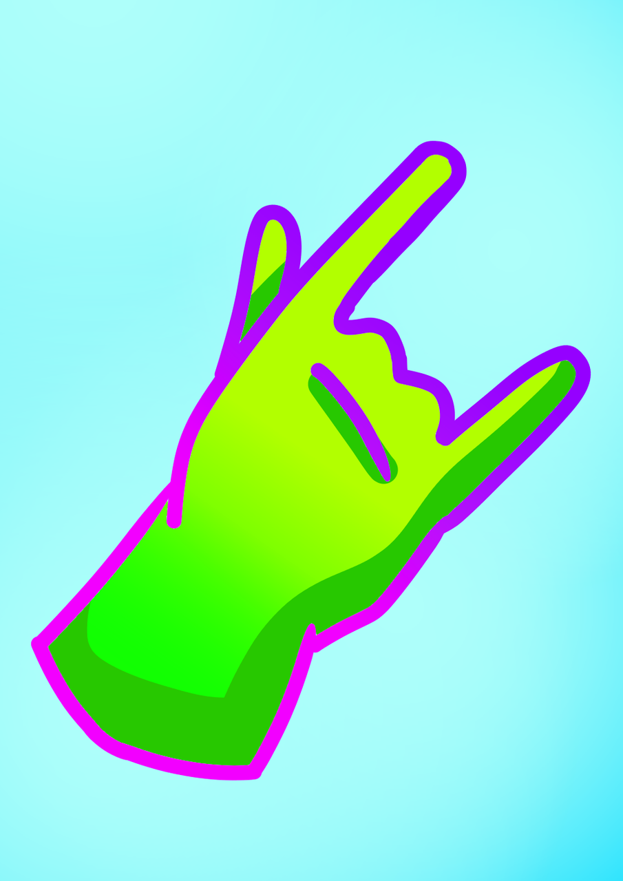 Hand :) Illust of Paper medibangpaint hand bored green