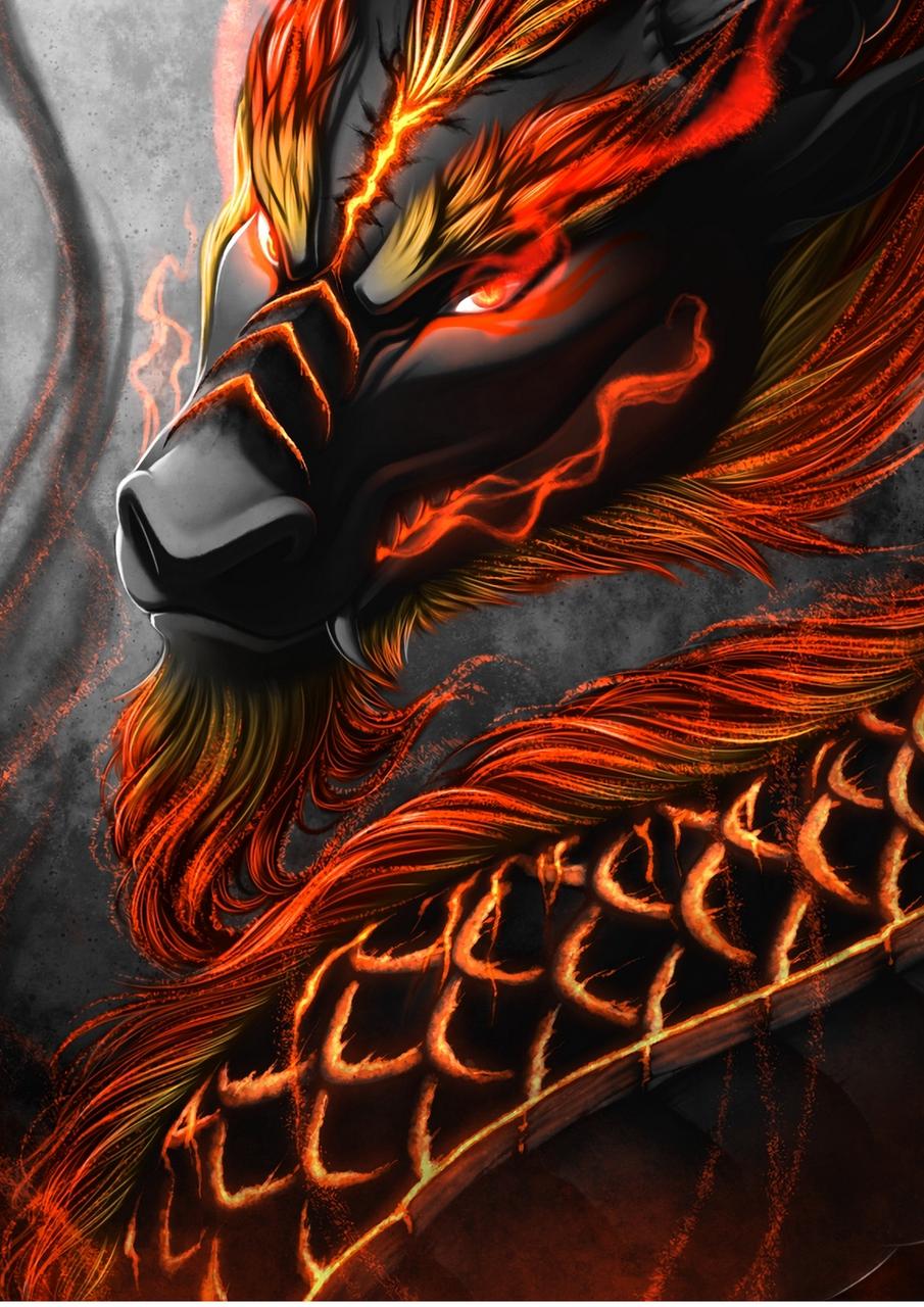 Fire Dragon Illust of Anime pro fantasy medibangpaint dragon