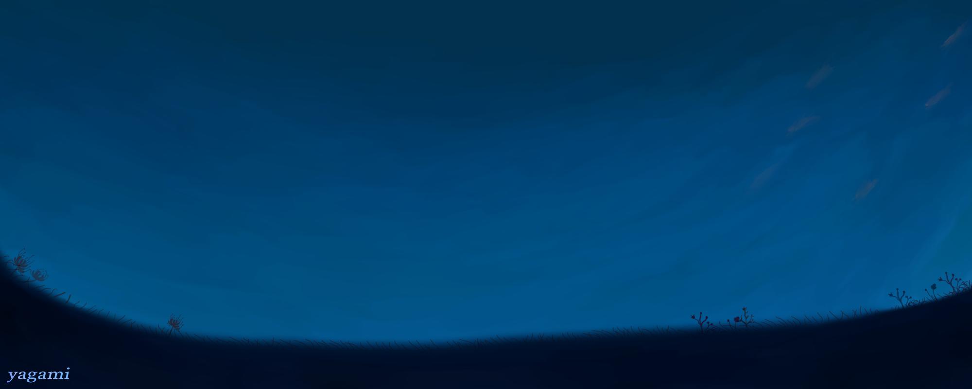 夕暮れ Illust of 八神 奏 Post_Multiple_Images_Contest original blue star background sky sunset clouds