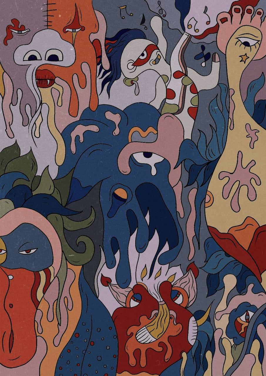 怪异世界 Illust of 洪倩 March2021_Creature
