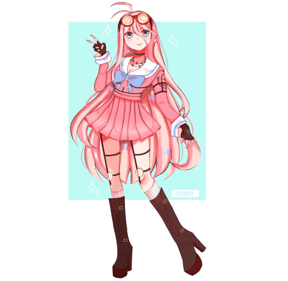 miu iruma Illust of ᴘᴏᴋɪɪᴠ illustration iruma girl Danganronpa portrait anime fanart miu Artwork cute