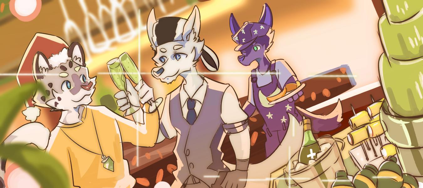 night Illust of 肯尼吉 Christmas 獸人 animal royale furry super