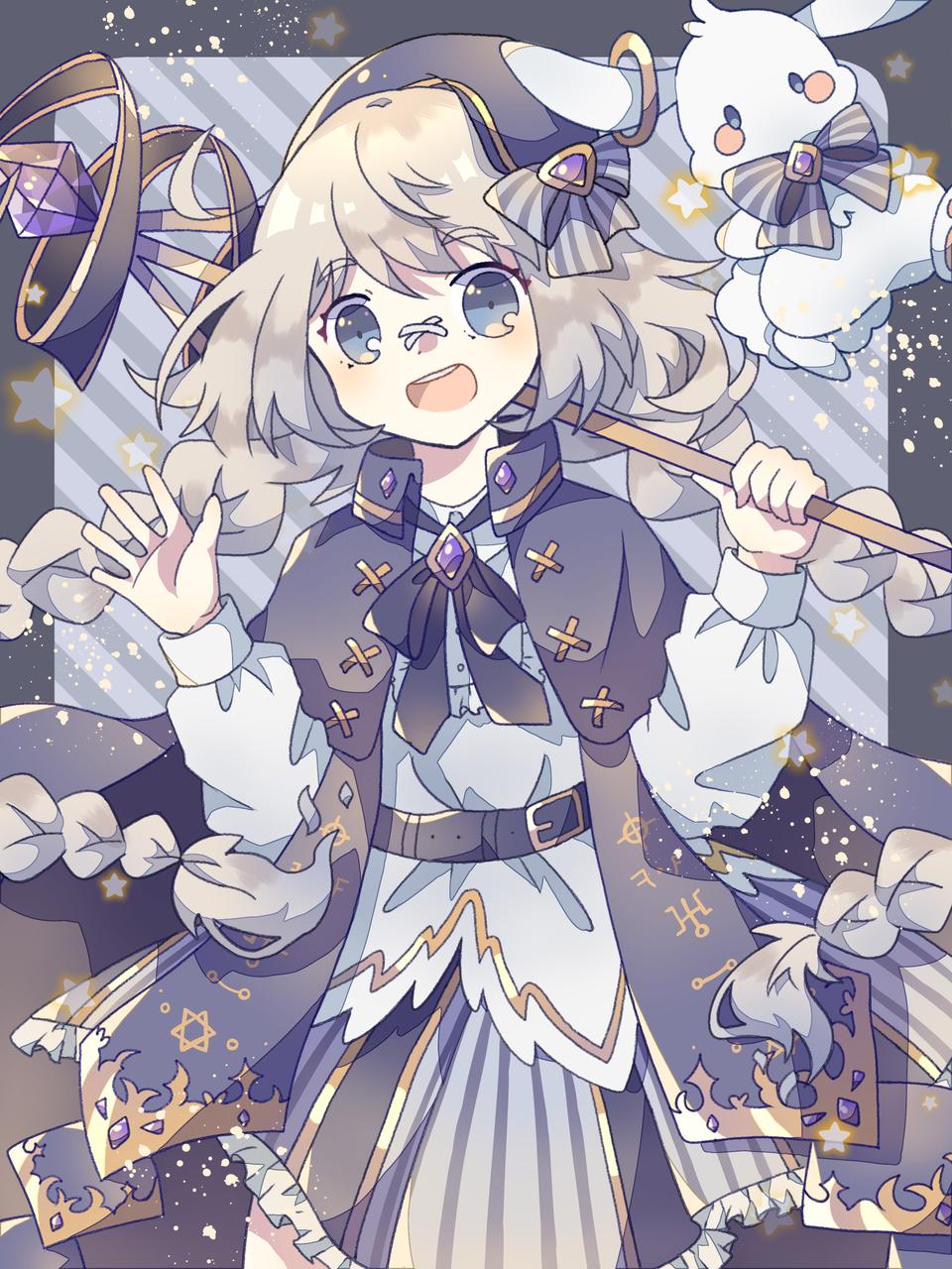 hoshizora Illust of 葛 January2021_Contest:OC oc original girl kawaii star