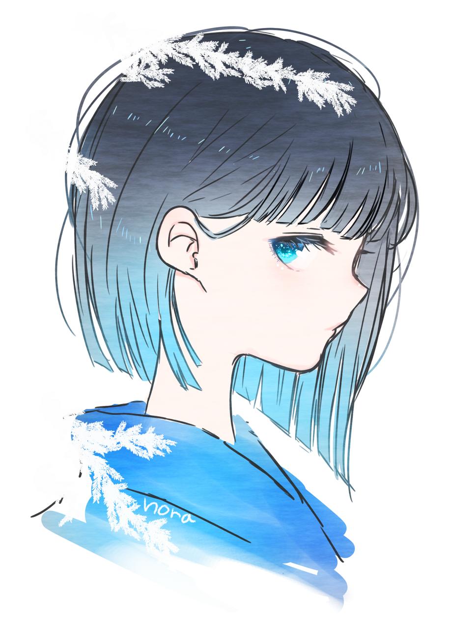 青い目 Illust of nora ARTstreet_Ranking 黒髪 横顔 original girl medibangpaint