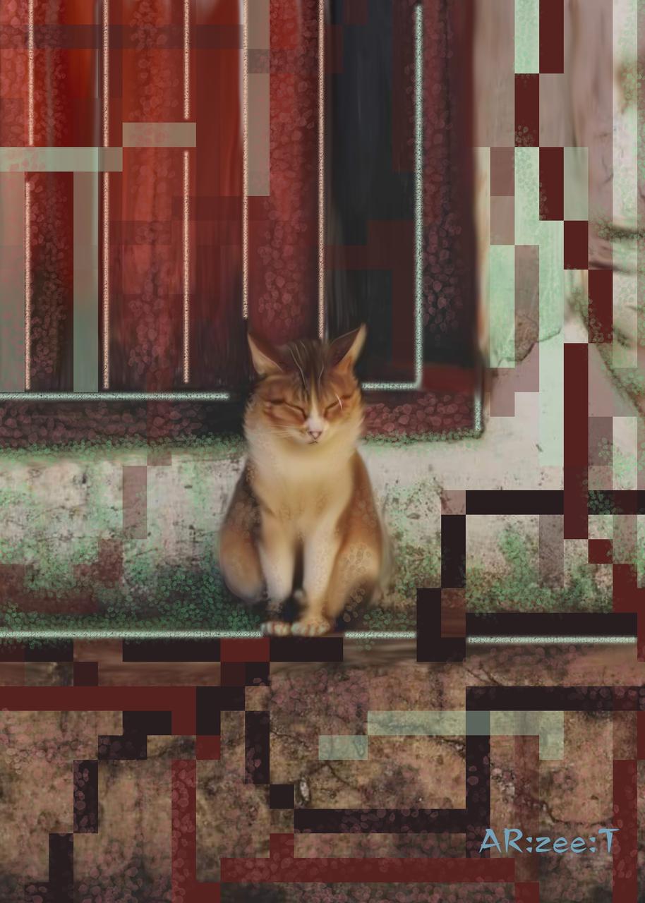 Purrrr Illust of Ar:Zee:T cute cat pixelart medibangpaint cat_ears iPad_raffle angry