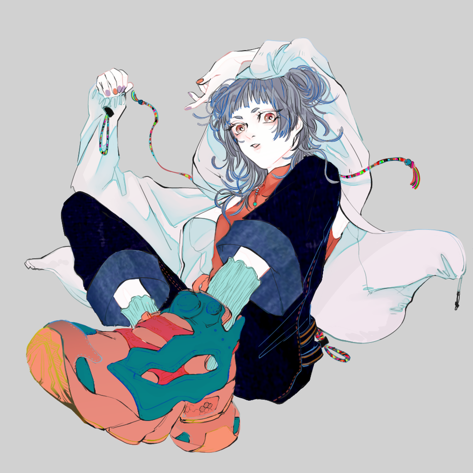 跳 Illust of 八 スニーカー girl 服 original