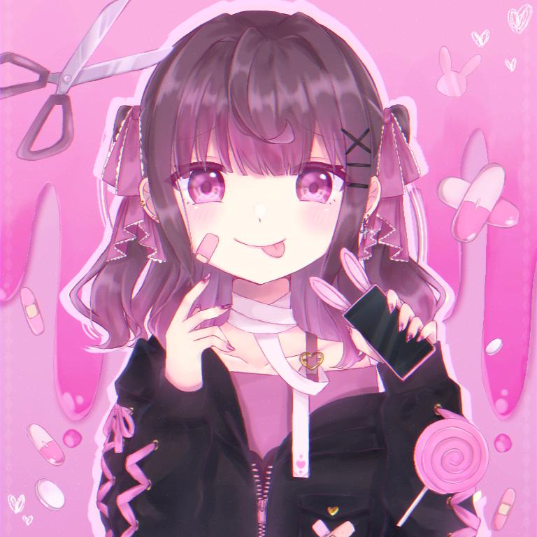 ♡ Illust of イチミル pink メンヘラ 病みかわ girl ヤバめ女子