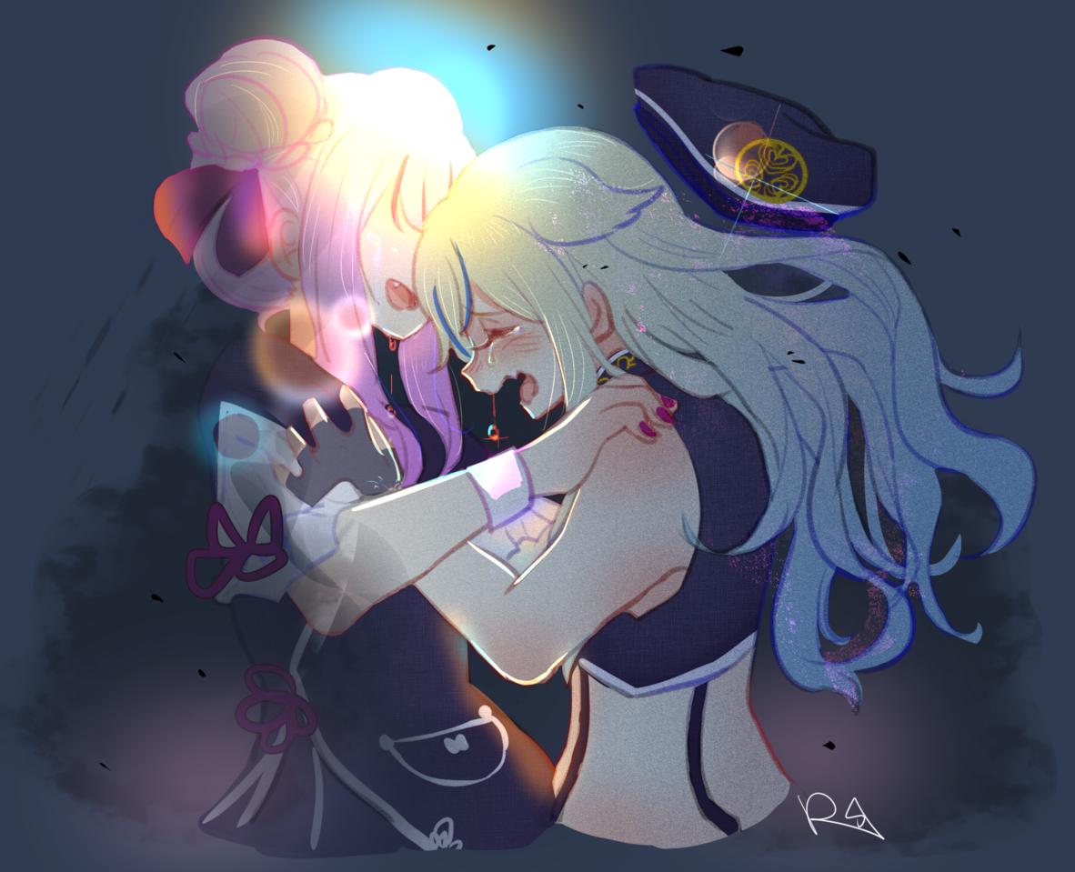 忘れないでいて欲しい Illust of RSazu ヒメヒナ 百合 himehina sad