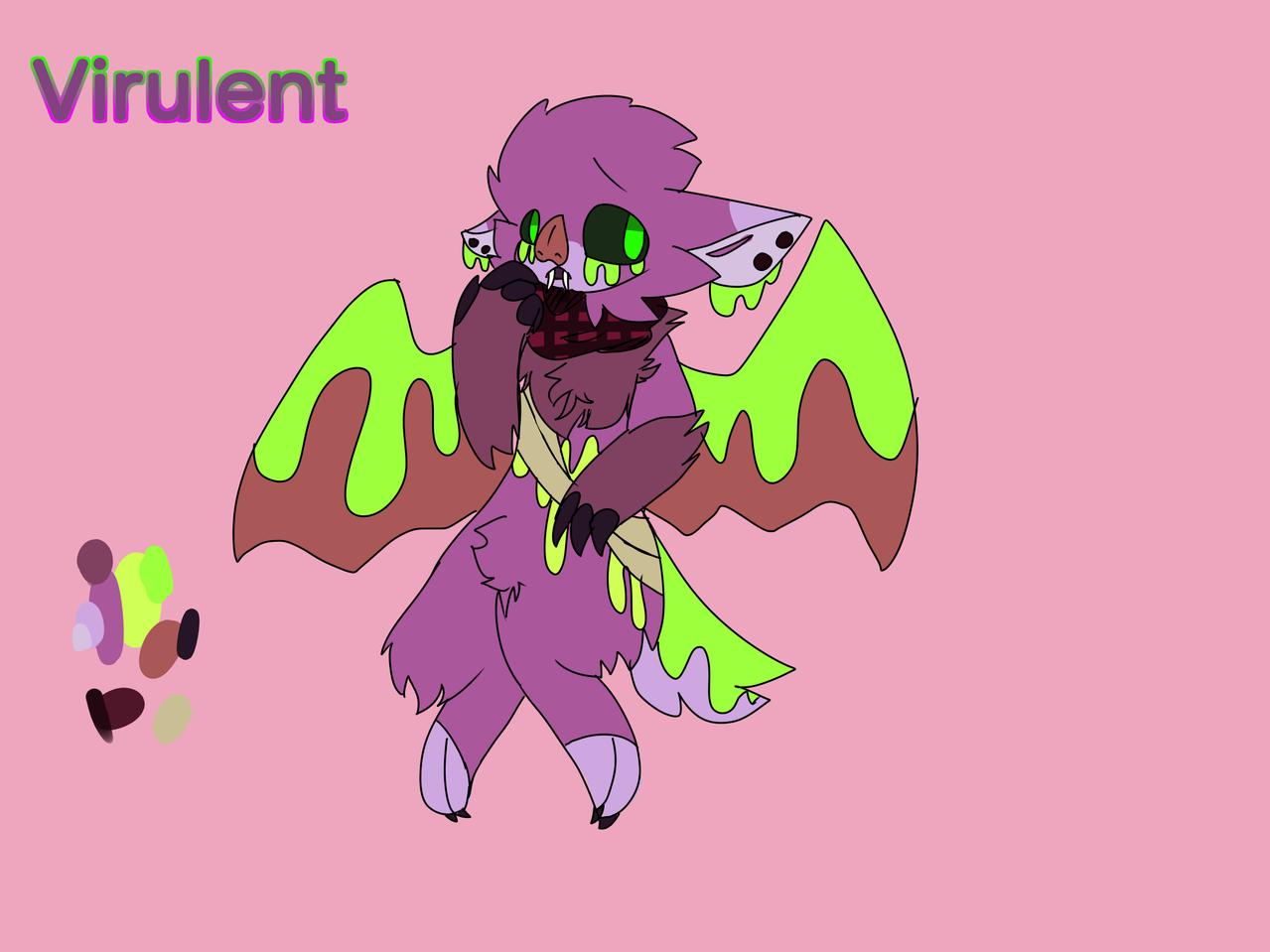 Virulent (poisontale oc) Illust of GhostTheBeast (Logan mode) Bat oc Poison undertale PoisonTale