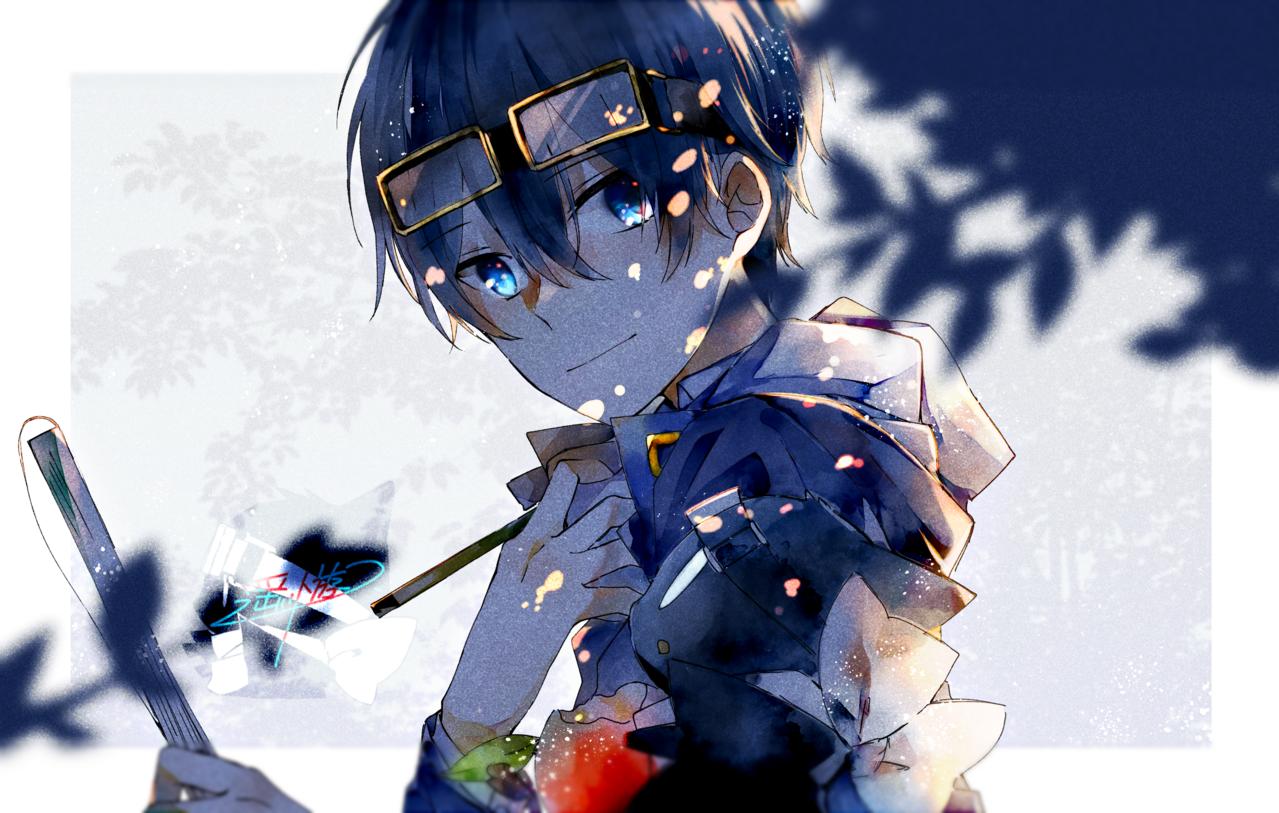 1人1匹 Illust of 遥川遊 medibangpaint blue boy watercolor
