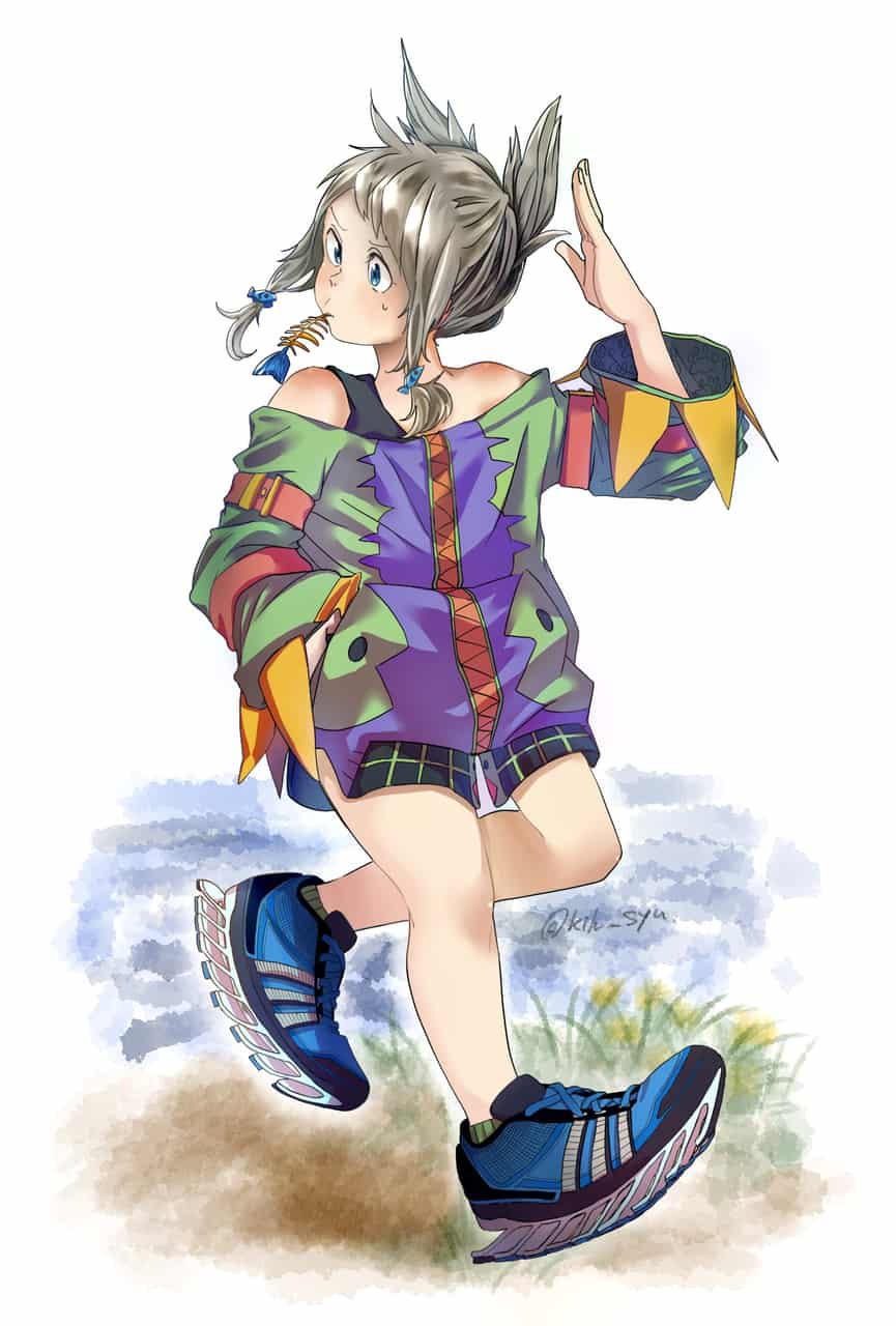 adidas spring blade Illust of syu oc girl catgirl おんなのこ 靴